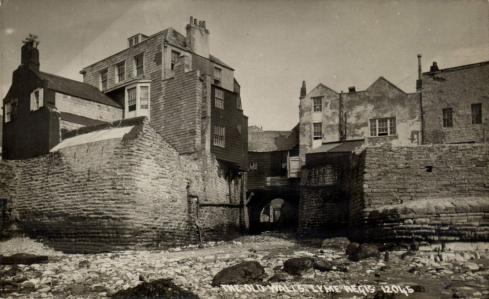 Buddle Bridge and old sea wall, Lyme Regis circa 1910