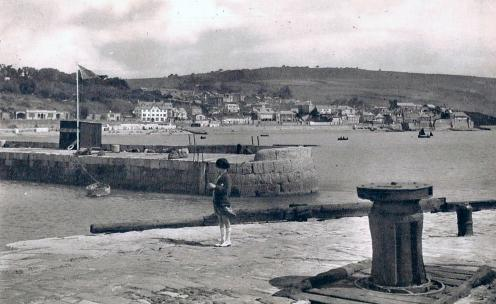 View from the Cobb towards town circa 1949