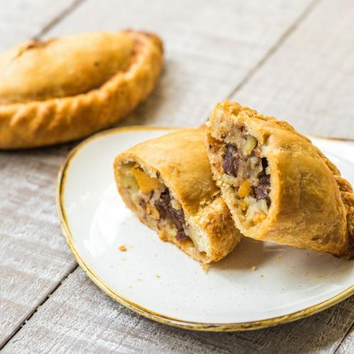 Traditional pasty from the Cornish Bakery
