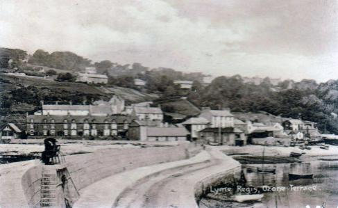View from the Cobb towards Ozone Terrace circa 1915