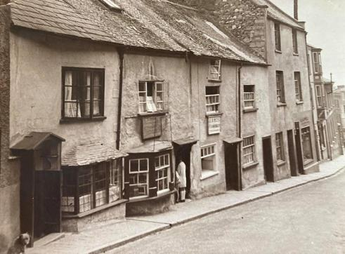Vintage photograph of Silver Street, Lyme Regis